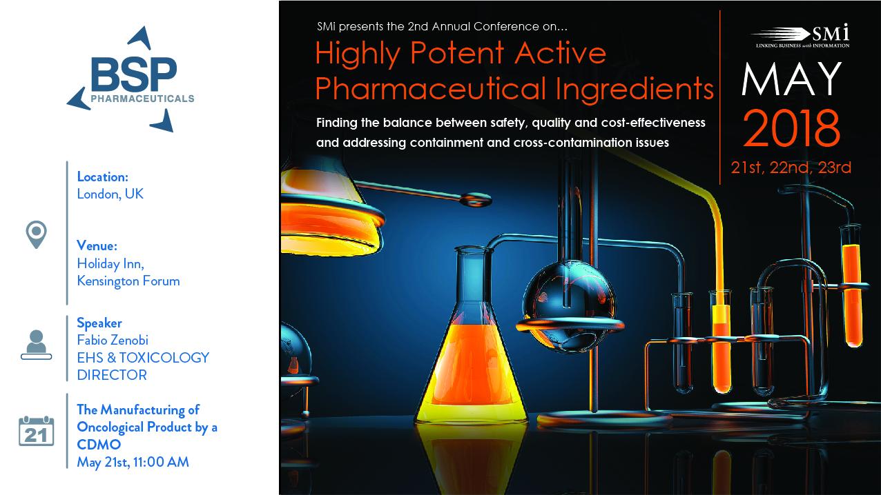 SMi High Potent Active Pharmaceutical Ingredients
